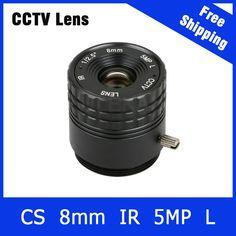 5Megapixel Fixed CS Mount Lens 1/2.5 Inch 8mm For OV4689/OV5658 1080P/3MP/4MP/5MP IP camera or AHD/CVI/TVI Camera Free Shipping
