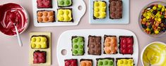 Lego Brownies bursdagskake - Baking for alle Muffin Top, Brownies, Muffins, Lego, Sugar, Cookies, Baking, Desserts, Recipes