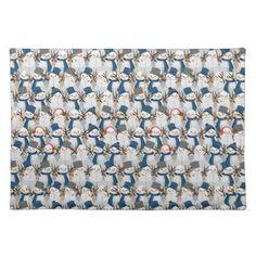 Snowman Pile Cloth Placemat - kitchen gifts diy ideas decor special unique individual customized