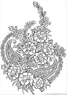 Textile Pattern coloring page - Free Printable Coloring Pages Pattern Coloring Pages, Flower Coloring Pages, Free Printable Coloring Pages, Mandala Coloring, Coloring Book Pages, Coloring Sheets, Motifs Textiles, Textile Patterns, Embroidery Patterns