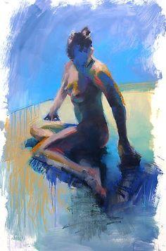 In Blue: Cathy Locke: Oil Painting - Artful Home