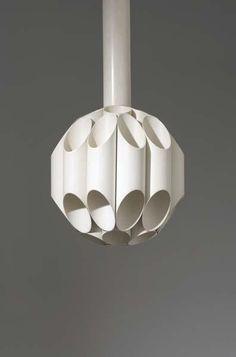 Gianni Celada; Enameled Metal 'Carciofo' Ceiling Light for Fontana Arte, c1970.