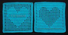 Free Crochet Pattern: Heart Filet Block