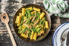 Rigatoni au filet de cuisse de poulet et au pesto