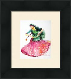 Gypsy Dancer Framed Print By Asha Sudhaker Shenoy