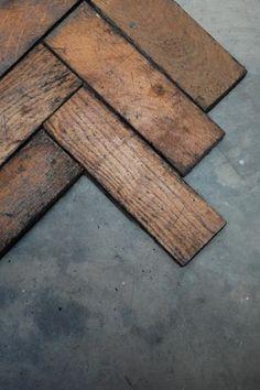 Reclaimed Oak Parquet Flooring; £22 per square meter from Retrouvius.