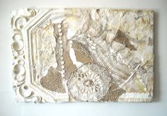 Cottage Chic Mixed Media Assemblage Shabby by ThresholdPaperArt