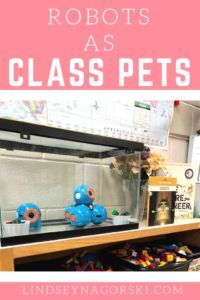 Robots make great pets! We love using robots in our grade classroom. I started integrating robots into the classroom in 2015 and haven't looked back. Currently we use Blue Bots and Wonder Workshop's Dot and Dash robots in order to enhance our c Robot Classroom, Classroom Pets, Future Classroom, Classroom Environment, Dash And Dot Robots, Dash Robot, Science Classroom Decorations, Classroom Themes, Primary Classroom