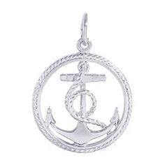 Anchor Charm. Nautical Sailing Charm, Sterling Silver. #2884.