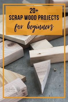 Great collection of easy DIY scrap wood projects and ideas! Small projects that are fun to make. Make organization, home decor, or storage. These simple projects are perfect for a beginner… Easy Small Wood Projects, Wood Projects For Beginners, Scrap Wood Projects, Woodworking Projects That Sell, Wood Working For Beginners, Easy Projects, Woodworking Plans, Easy Home Decor, Wood Crafts