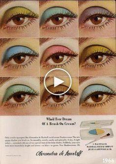 Wir haben 10 Retro-Beauty-Anzeigen zusammengestellt, die 2014 absolut fesselnd und sehr, sehr amüsant zu lesen sind. 70s Makeup, Retro Makeup, Colorful Eyeshadow, Colorful Makeup, Beauty Ad, Beauty Makeup, Beauty Products, Nyx, Maybelline