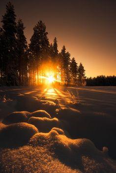 beautiful sunrise in winter Beautiful World, Beautiful Places, Beautiful Pictures, Amazing Sunsets, Beautiful Sunrise, Winter Scenes, Beautiful Landscapes, Strand, Wonders Of The World