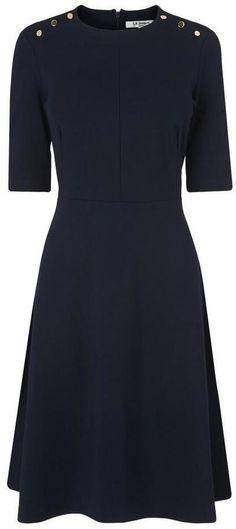 LK Bennett Casey Navy Dress