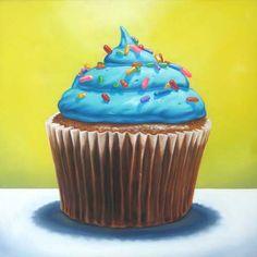 Cupcake Suite II by Jeanne Vadeboncoeur Cupcake Kunst, Cupcake Art, Yummy Snacks, Yummy Food, Recipe Drawing, Food Painting, Cupcake Painting, Cafe Art, Food Drawing