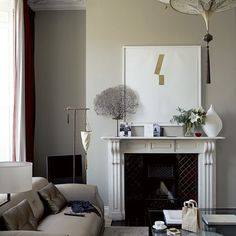 Pared-down living room | Take a tour around Georgian townhouse in Dublin | housetohome.co.uk