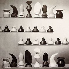 "#MaxErnst, ""Chess Set"", #1944 - image via ""The Imagery of Chess Revisited"", a super interesting book whether you are into chess or not. ▪️▫️▪️▫️▪️▫️"