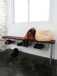 Entryway Bench - DIY Shoe Storage | Apartment Therapy