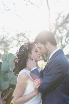 Romantic Bride and Groom Portrait From Charla Storey Photography