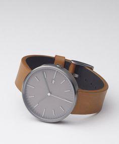203 SERIES (PVD Gun Grey / Tan Leather) | Uniform Wares