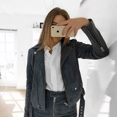 Devoed skirt and Nana suede jacket