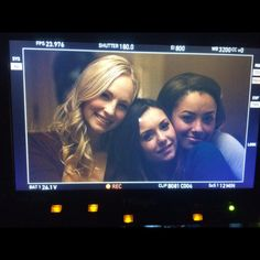 Nina Dobrev - Ok. Officially a mess. No hiding it anymore. Today has been a day filled with farewells.. I still have 2 more days of shooting before I wrap TVD. But it's officially a wrap on Caroline&Elena&Bonnie. Finished filming with these two beautiful, funny, sweet, sassy, amazingly talented and lovely ladies…. @candiceaccola @katgrahampics .  Love you with all my heart and soul forever and always… #TVDFamily