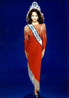 Cecilia Bolocco, Miss Universe 1987 from Chile.