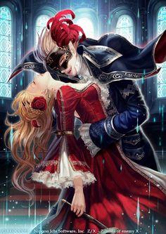 Anime, Vampire Couple Bad/good vampire (brother?)