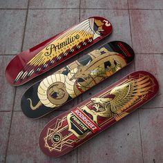 Skateboard decks by Primitive Skateboarding The Daily Board:follow |facebook |pinterest|twitter | submit