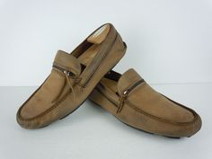 WELL WORN Men's John Varvatos Brown Leather Loafers Size 10