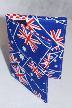 Passport Holder  Australian flags with red polka dot by LukaMish, $10.00