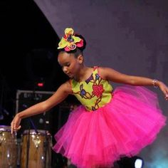 Ankara tutu or Flower girl dress? Love it!