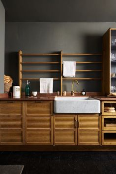 A Moody Haberdasher Style Kitchen With a Late Night Speakeasy Feel