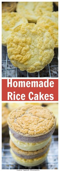 This crunchy Homemade Rice Cakes recipe is super easy to make and delicious! Enjoy a healthy snack and choose if you'd like it sweet or savory. Can be Gluten Free!