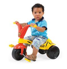 0762.1 - Triciclo Tigrão | Super resitente, fabricado em plástico injetado, vêm com adesivos para a criançada decorar seu triciclo como quiser. | Faixa Etária: +2 anos | Medidas: 57,5 cm | Triciclos | Xalingo Brinquedos | Crianças