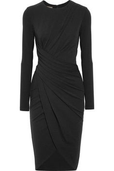 MICHAEL KORS Draped stretch-jersey dress. #michaelkors #cloth #dresses