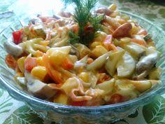 Вкусные домашние рецепты: Рецепт салата с кукурузой и маринованными грибами за 10 минут
