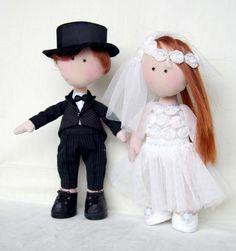 wedding couple bride and groom dolls wedding by PolishHandMadeToys