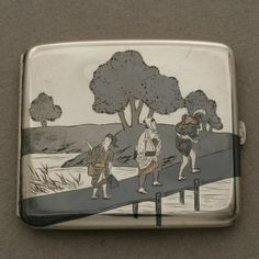 Gallery 925 - Japanese Mixed Metal Cigarette Box