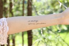 The popular phrase oh darling, lets be adventurers makes a lovely detail on a spring adventure. Written in a simple cursive and measuring Temporary Quotes, Best Temporary Tattoos, I Tattoo, Cool Tattoos, Tattoo Quotes, Mom Quotes, Cute Quotes, Jewelry Tattoo, Tattoo Designs