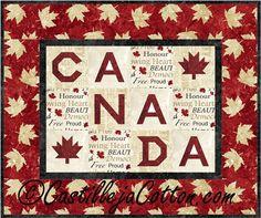Canada Quilt Pattern Fabrics: www.northcott.net Stonehenge Oh Canada