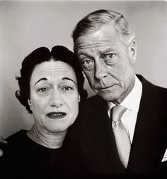 """The Duke and Duchess of Windsor after Richard Avedon told them that his taxi had run over a dog earlier. That had not happened but Avedon thought it would make them seem more """"real"""" for the photograph."""