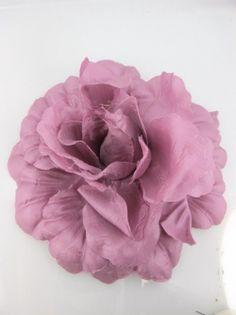 Large Dusky Pink Silk Effect Fabric Hair Flower Clip And Corsage I Like This Colour