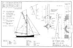 18FT Half-Decked Racing Gaff Cutter, Design #93