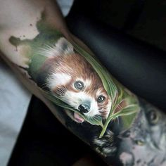 60 Red Panda Tattoo Designs For Men - Animal Ink Ideas Tribal Tattoos, Tattoos Skull, Wrist Tattoos, Love Tattoos, Tatoos, Red Panda Tattoo, Animal Paintings, Animal Drawings, Meaningful Word Tattoos