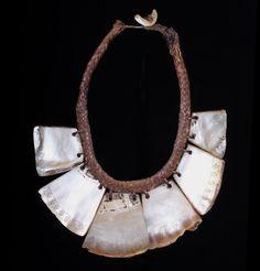 N. Philippines, Luzon   'Pangalapang' Ifugao shell status necklace. Ifugao people   Early 20th c.. Univers Mininga