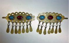 Turkmenische Haarspange Ein Paar Vintage von neemaheTribal auf Etsy