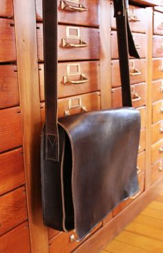 Leather messenger bag...