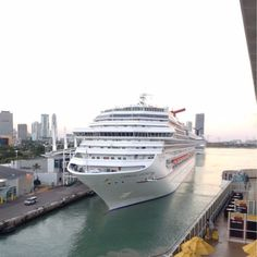 Carnival Splendor docked in Miami waiting to depart! Photo was found on ship mate! #carnivalcruise #carnivalcruiseline #carnival #splendor #carnivalsplendor #funship #miami #florida #cruise #ship #cruiseship #cruisingislife