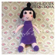 "Bambola ""Tata Susina"" - Il Piccolo Regno di Ben & Holly - realizzata con filato Zarina e microfibra Excellent Baby Filatura di Crosa. Uncinetto. Fatto a mano. Nanny Plum ""Ben & Holly's Little Kingdom"". Handmade crochet. Amigurumi. Ben And Holly, Play Food, Amigurumi Doll, Filatura, Dinosaur Stuffed Animal, Dolls, Crochet, Kids, Stuff To Buy"