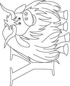 nightingale animal coloring pages. yak Letter N  Nightingale animal coloring page Homeschooling